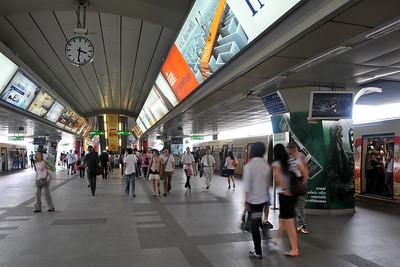 Siam Paragon railway station, Bangkok, Thailand