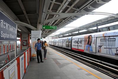 Saphan Khwai N7 railway station in Bangkok, Thailand