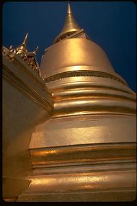 Golden Stupa in Grand Palace Bangkok, Thailand