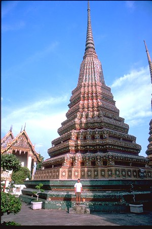 Great Stupa and yours truly in Grand Palace Bangkok Thailand