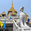 The building housing the Golden Buddha at the Wat Traimit Temple in Bangkok, Thailand.