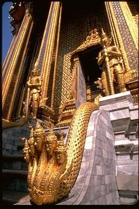 Grand Palace Naga Snakes in Bangkok, Thailand