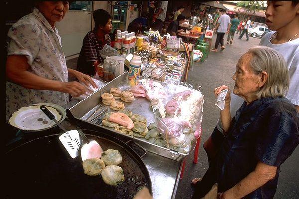 Food stalls in Bangkok Thailand