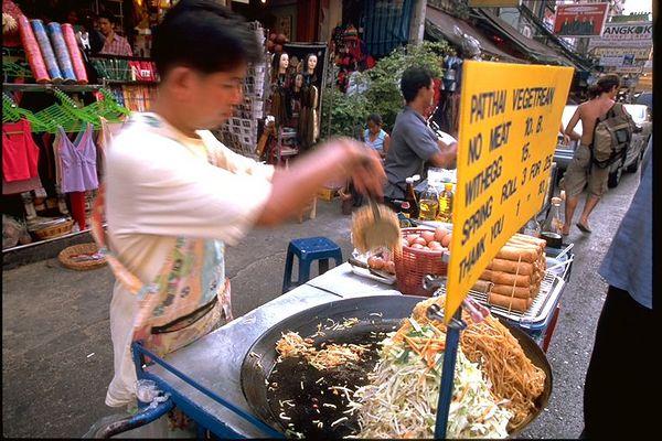 Pad Thai in Khao San Road Bangkok Thailand