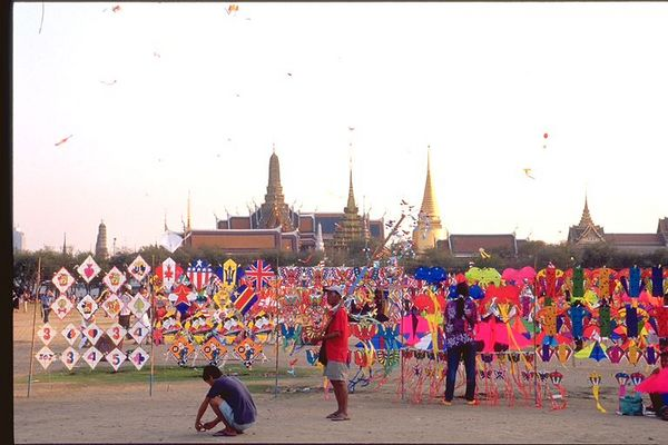 Kite flying in Bangkok, Thailand