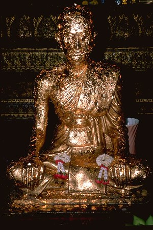 Golden Flake Buddha in the Grand Palace Bangkok Thailand