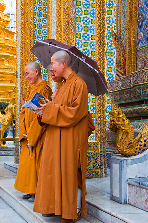 Monks at the Grand Palace