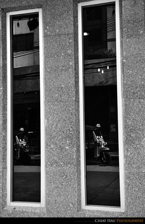 Tut-tut - reflection in B&W