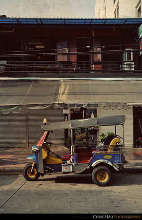 Tut-tut - one of the smaller taxi in bangkok, but they are FAST!