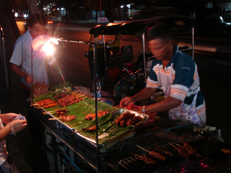 Street vendor on Rajaprarop Road
