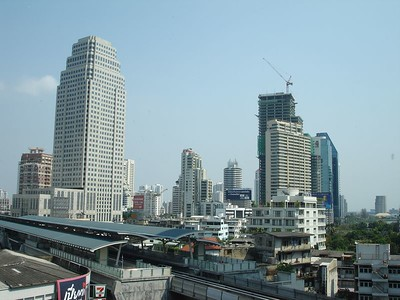 View from the Westin bar. We can see the Asok skytrain station