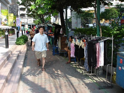 There are street vendors everywhere, selling everything from electronics to souvenirs to counterfeit products
