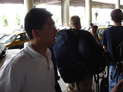 Finding a taxi when we land in Bangkok