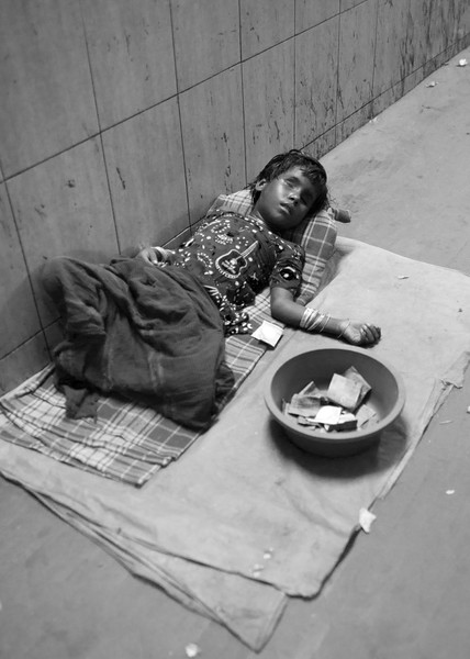 Blind beggar who looked dead.