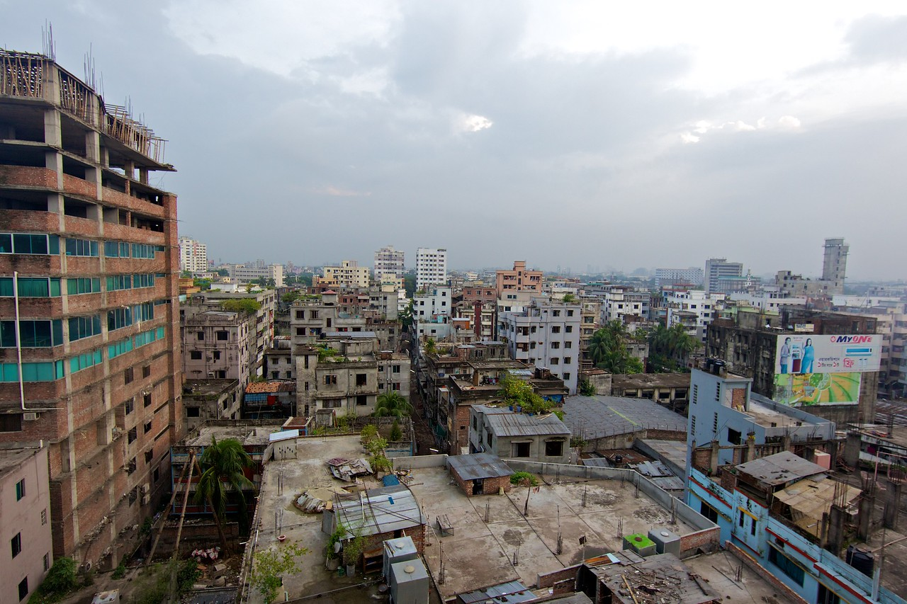 View of Dhaka from my hotel window.