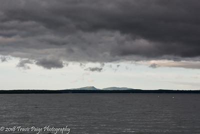 Looking across Frenchman's Bay at Schoodic Mountain.