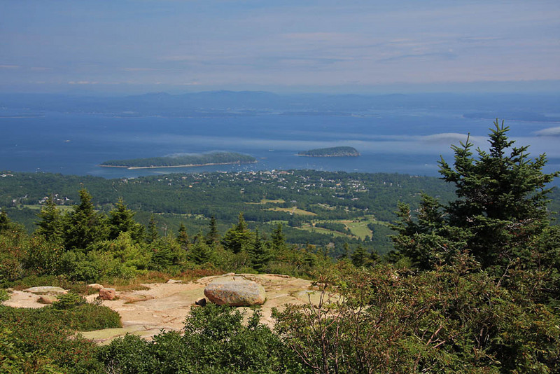A view of Bar Harbor.