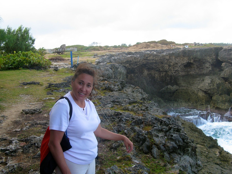 Cissa on a windy day in Barbados
