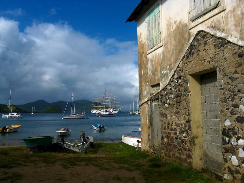 Royal Clipper anchored off Iles des Saintes, FWI