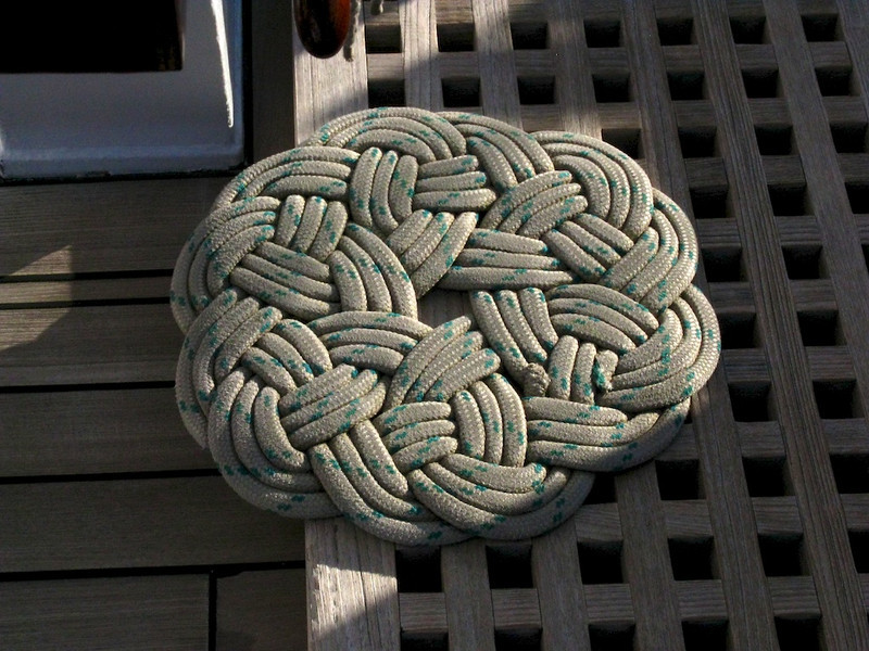 Cool rope rug for the helmsman