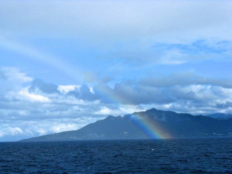 Rainbow off Antigua