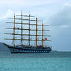 Royal Clipper anchored off Jost van Dyke