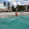 Cissa experiencing perfect waves on Rockley Beach, Barbados