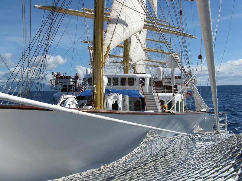The foredeck of the Royal Clipper