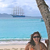 Cissa and the Royal Clipper at Jost van Dyke