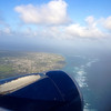 Obligatory departure photo from the airplane, showing the east coast of Barbados