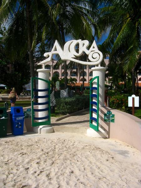 The beach gate at Accra Beach Hotel, Barbados