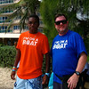 "How bizarre is this? Sanjay Parekh gave me the ""I'm on a boat"" T-shirt from Startup Riot... and then I ran into a local wearing one (without the Startup Riot sponsors on the back) on Rockley Beach in Barbados..."