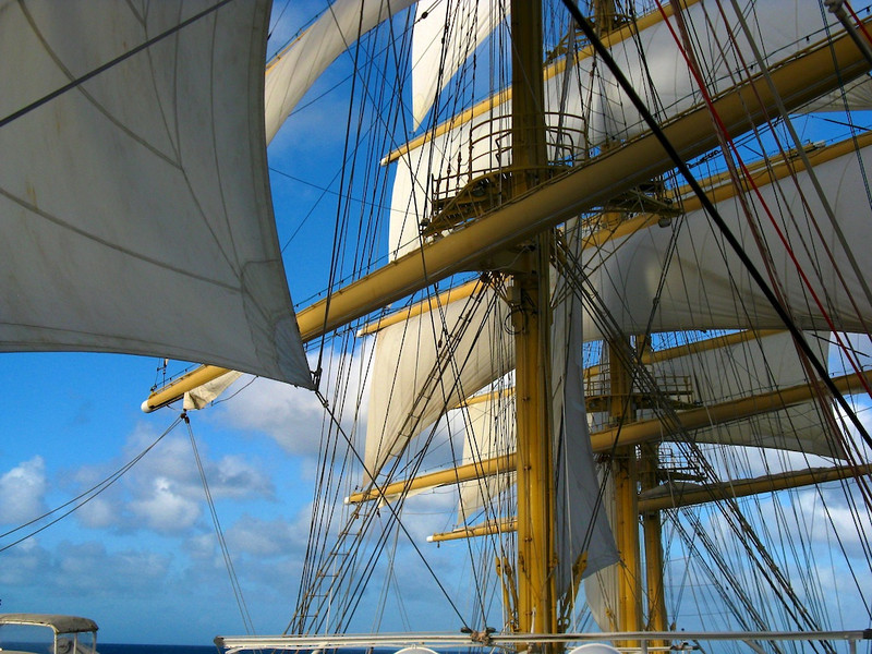 Royal Clipper under sail. (Yes, I checked the bridge controls to make sure the engines were stopped!)
