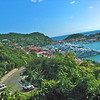 St. Barth's harbor. Cissa is now taking pictures one-handed while hanging on to the back of the ATV