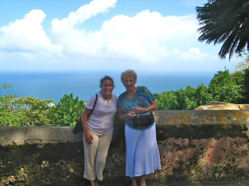 Cissa with Dawn Wolfe (who we met on the cruise) in Barbados