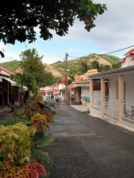 Main Street in Terre de Haut, Iles des Saintes, French West Indies