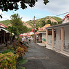 Main Street in Terre de Haut, Iles des Saintes, French West Indies