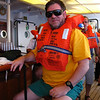 Stephen at mandatory lifeboat drill