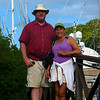 Stephen and Cissa at Marigot Bay, St. Lucia