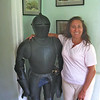 Suit of armor in Sunbury. People were shorter back then!