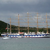The Royal Clipper anchored off Iles des Saintes, French West Indies