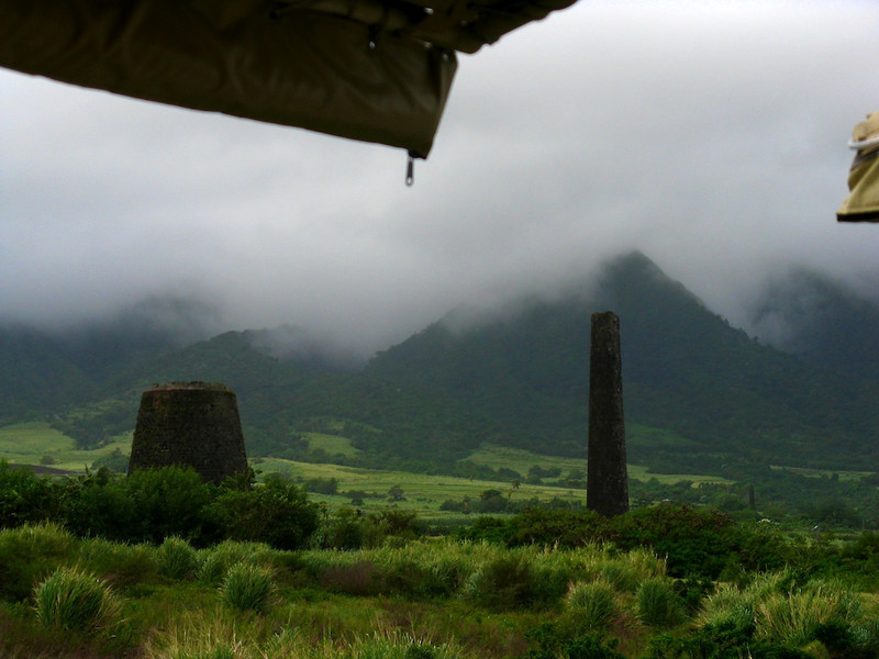 Abandoned sugar mills on St. Kitts.
