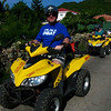 Renting ATVs for a tour of St. Barth's