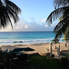 The view from our hotel balcony, Accra Hotel and Spa, Barbados. I'm standing next to our outdoor Jacuzzi. Life is good.