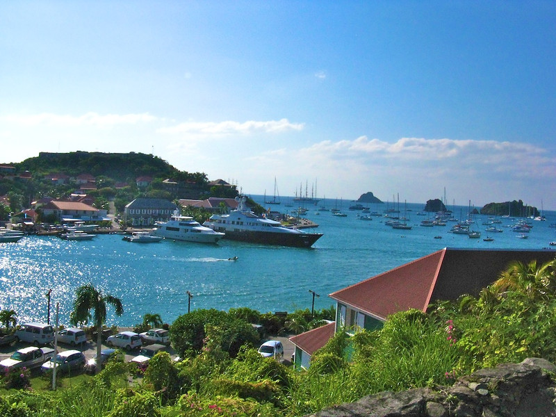 Megayachts in St. Barth's