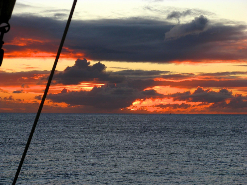 Sunset off St. Lucia