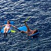 Cissa and Vicki swimming off the aft of the Royal Clipper