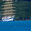 The Royal Clipper anchored in North Sound, Virgin Gorda
