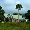 The Anglican church where Thomas Jefferson's grandfather is buried on St. Kitts.