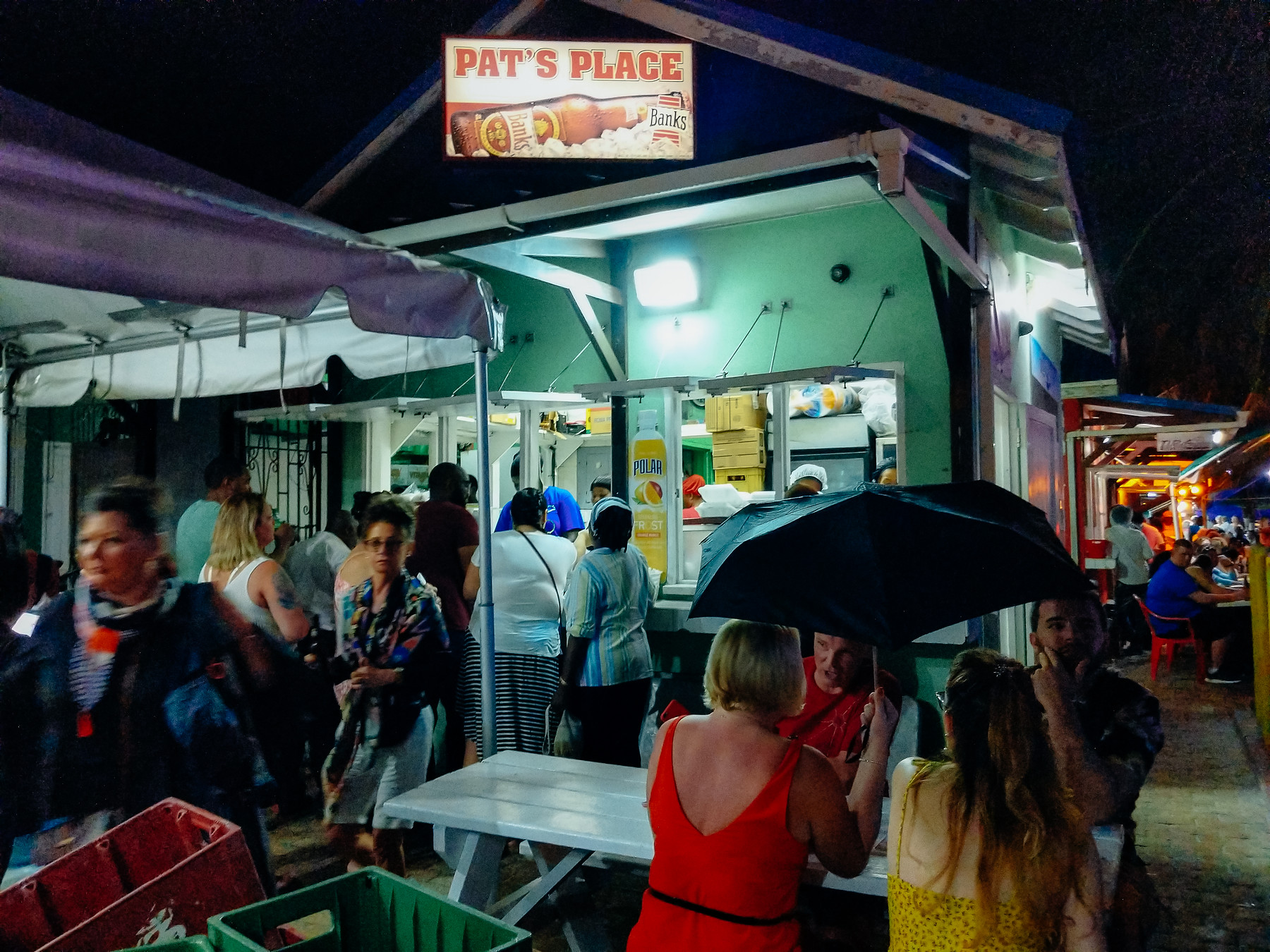 The best Barbados restaurants include Pat's Place at the iconic Oistin's Friday Night Fish Fry.